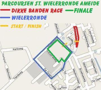 Parcoursen RDBR en Wielerronde Ameide